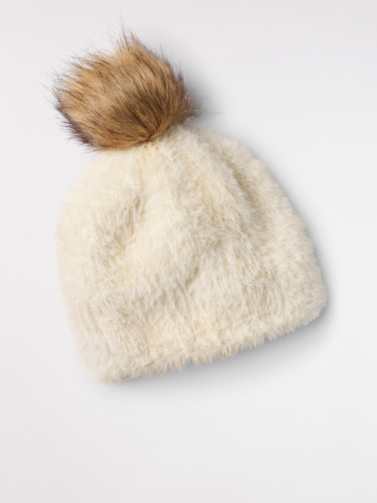 Fluffy Bobble Hat