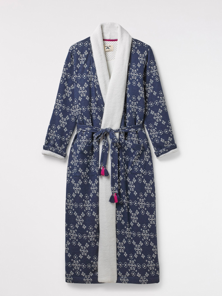 Starry Heart Lng Jacquard Robe