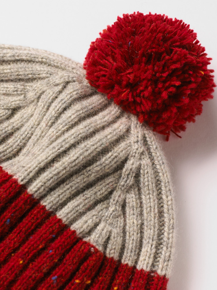 Spennie Colourblock Bobble Hat