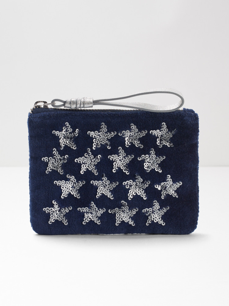 Velvet Sequin Star Coin Purse