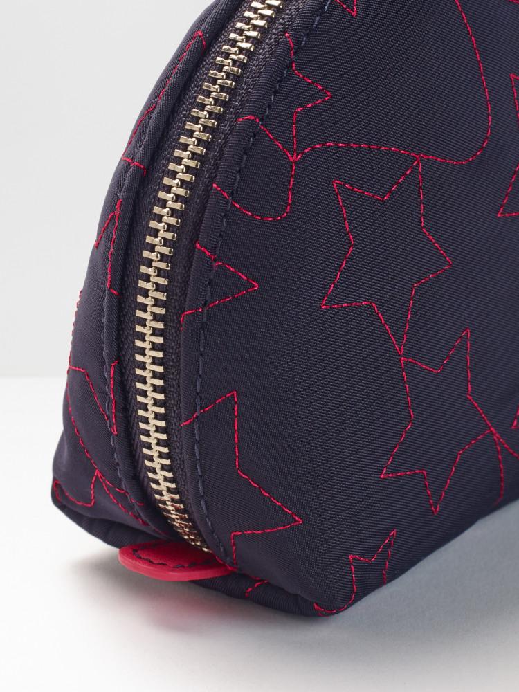 Star Embroidered Make Up Bag