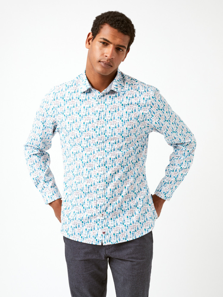 Busy Bottle Print Shirt