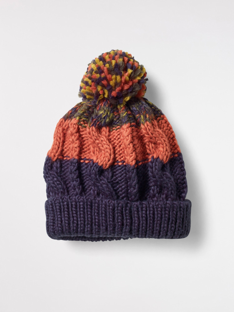Kids Cable Bobble Hat