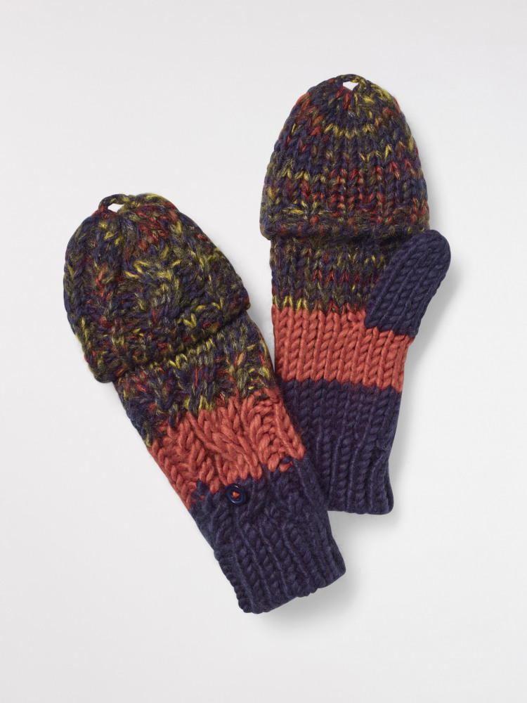 Mini Striped Flip-Mitt