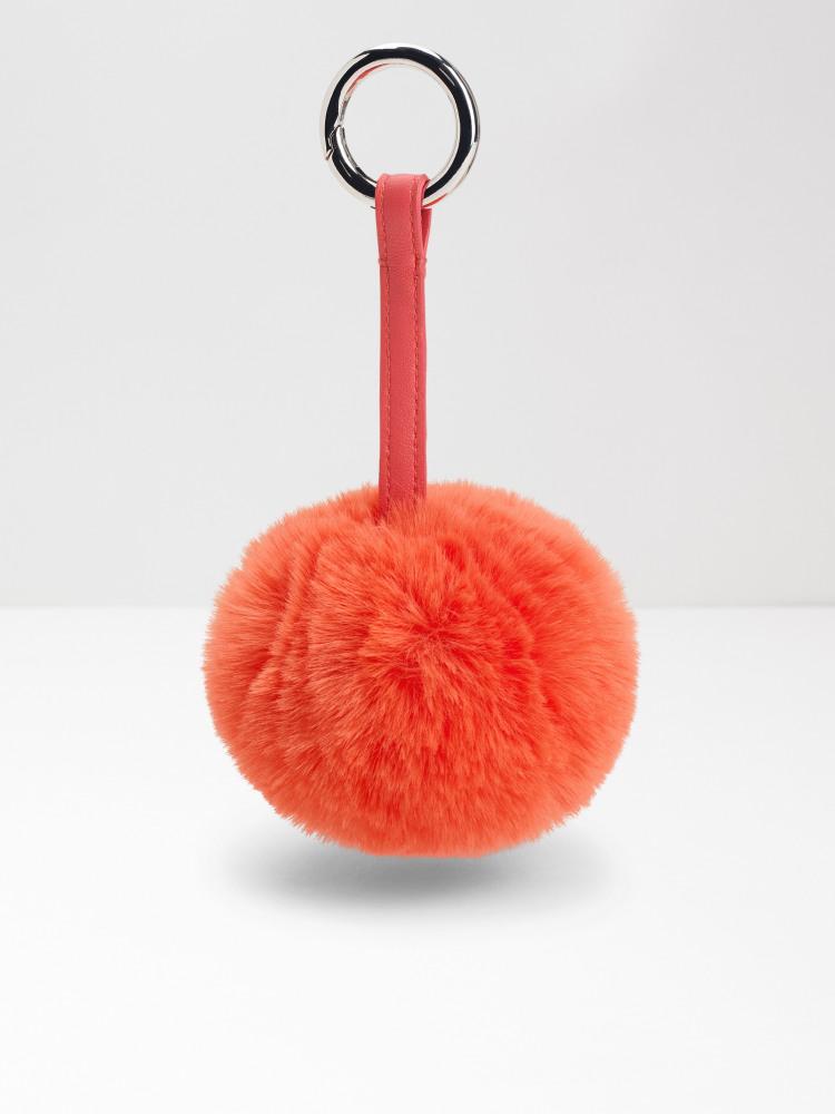 Faux Fur Pom Pom Keyring