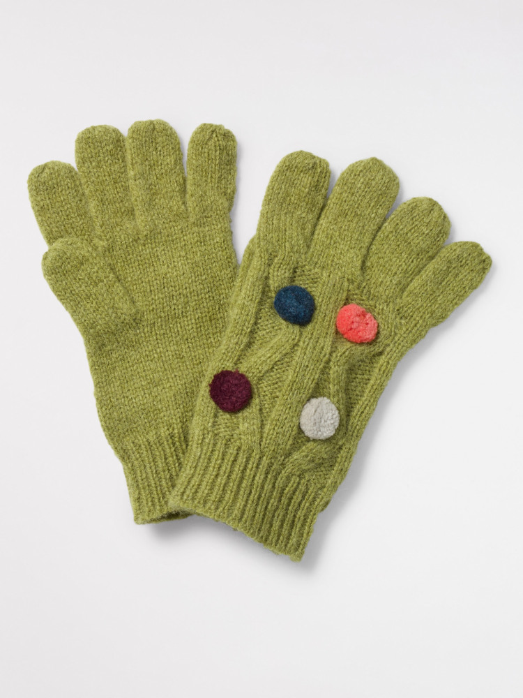 Kids Cable Pom Glove