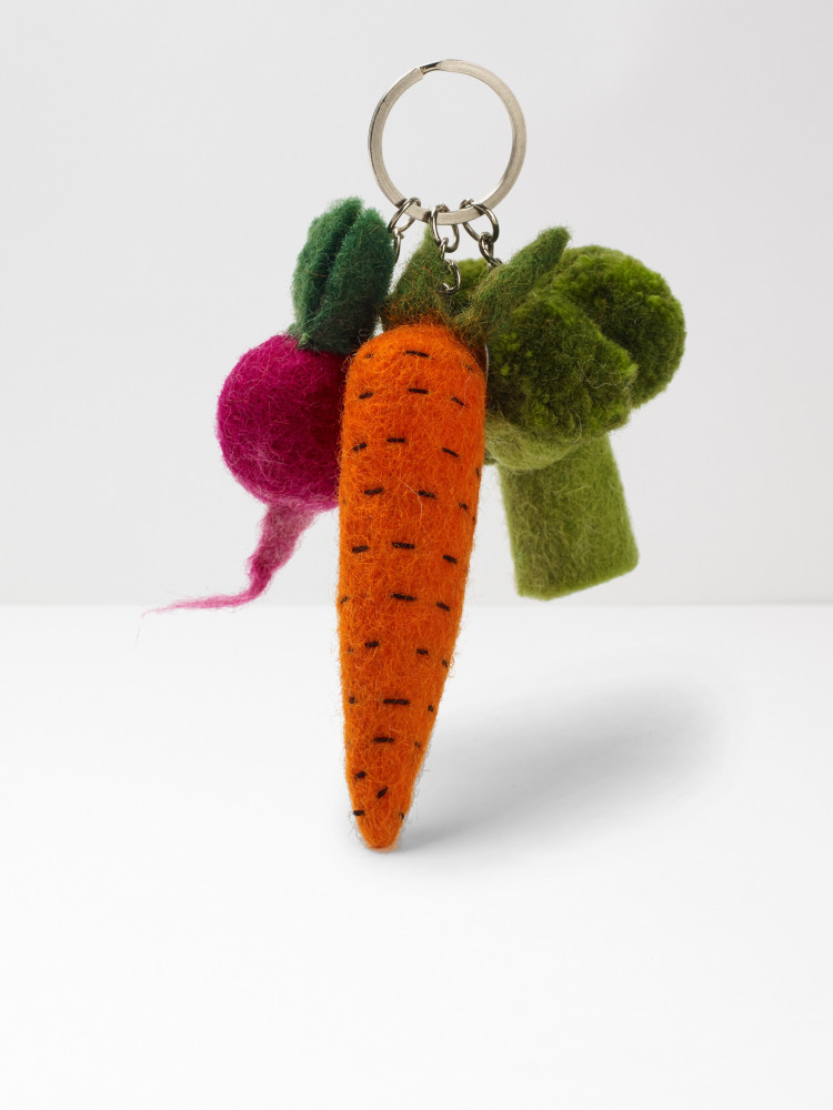 Trio Of Vegetables Keyring