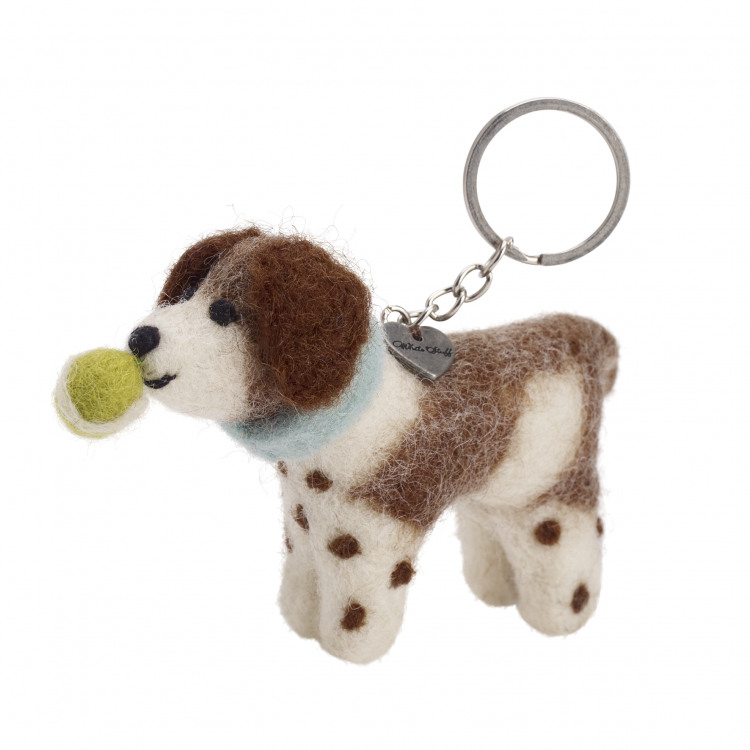 Spaniel With Ball Keyring