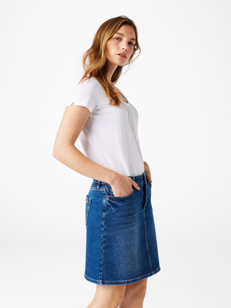 Casual Walk Denim Skirt