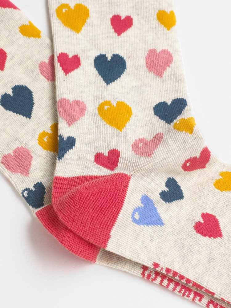 Painted Heart 2 Pack Socks