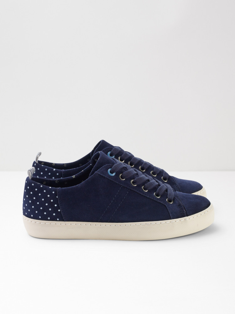 Sally Contrast Lace Up Trainer