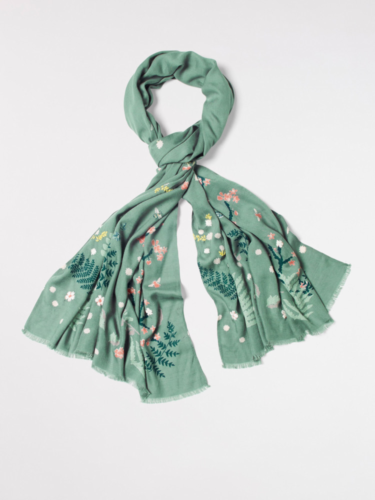 Birds Bees Cherry Trees scarf