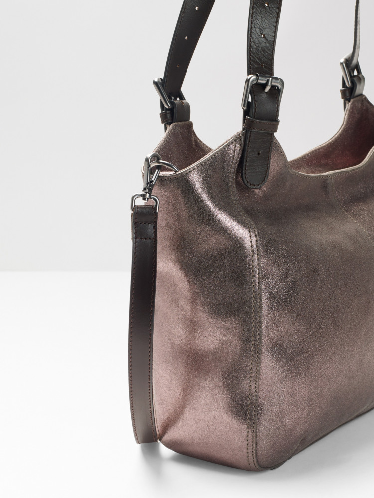 Bailey Metallic Zip Hobo