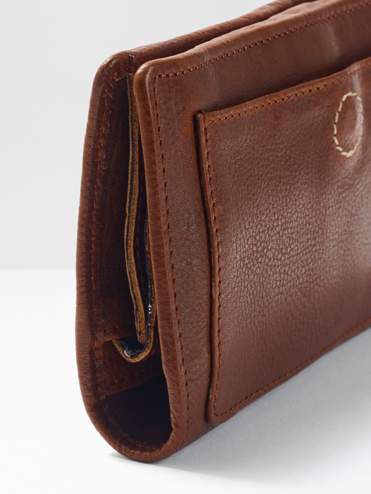 Monica Leather Stitch Purse