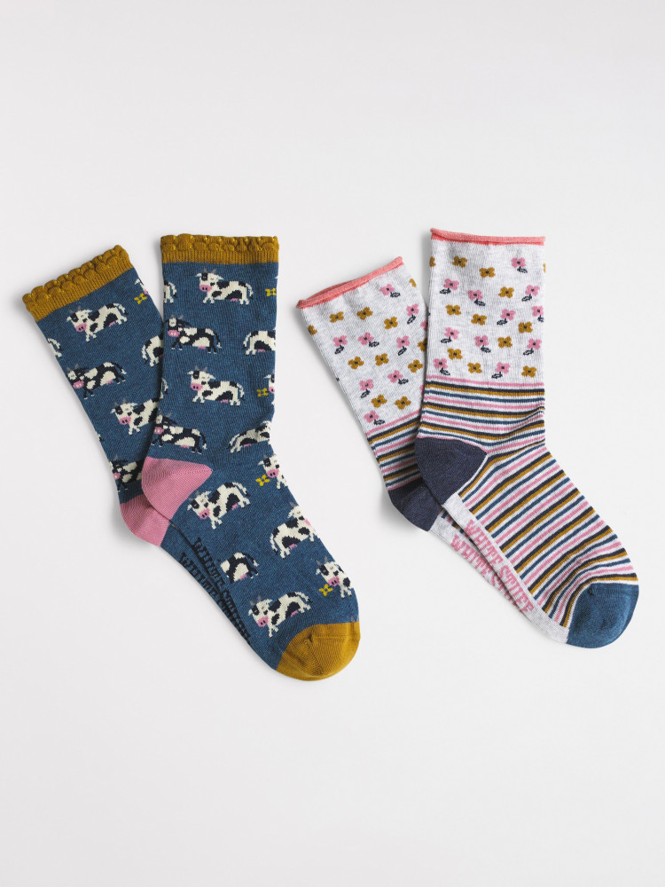 Buttercup Cow 2 Pack Socks