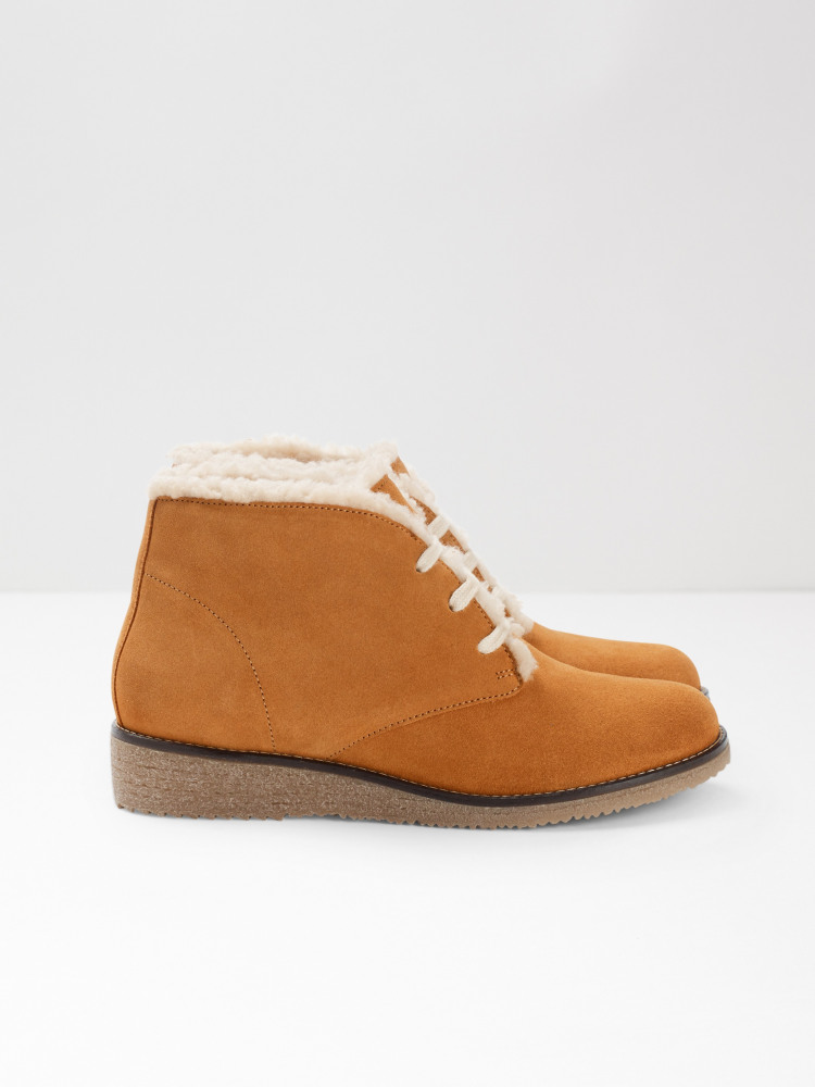 Suede Lace Up Ankle Boot