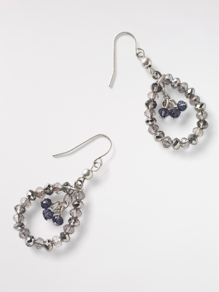 Sparkly Hoop Drop Earring
