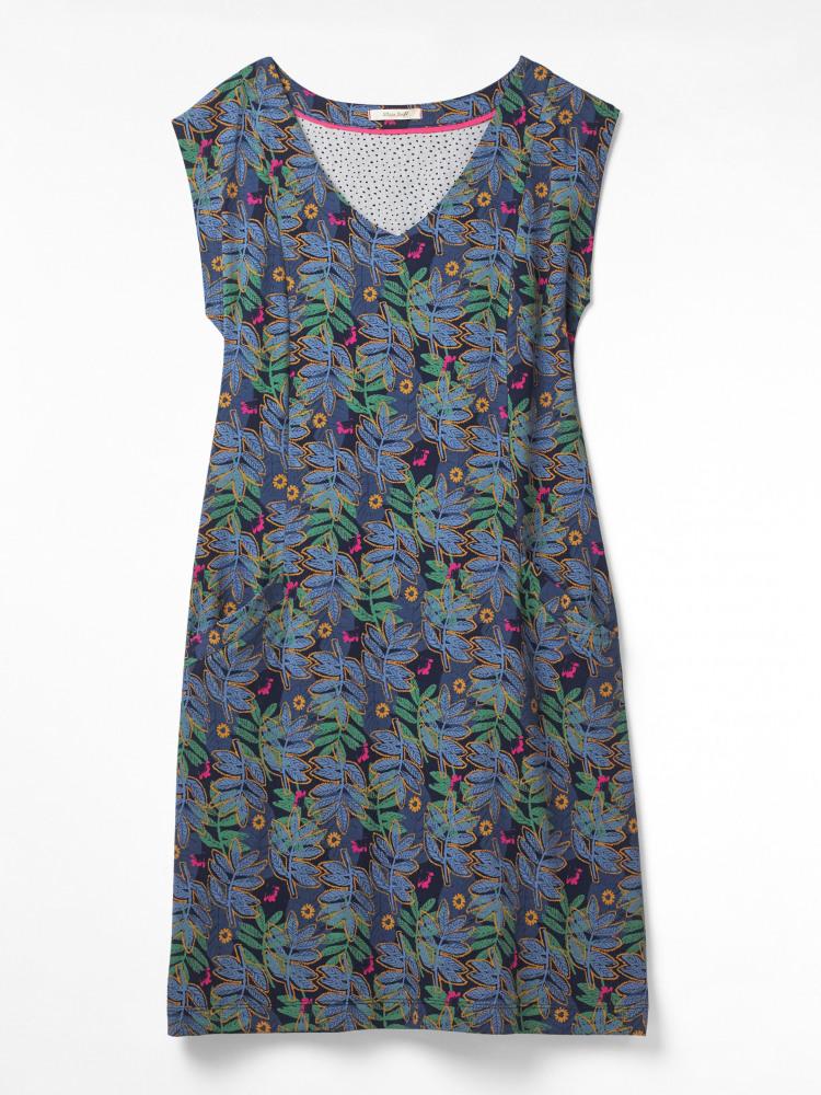 b3090dcec82673 Lena Fairtrade Dress (Freida Blue Print) | White Stuff