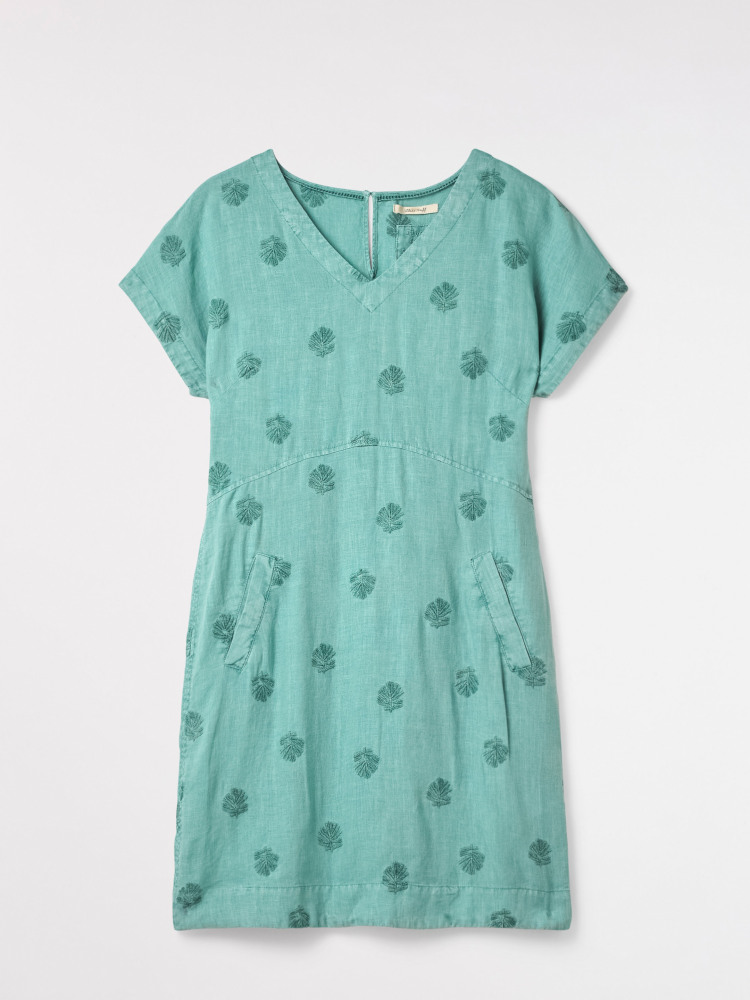 b9d3f7902f Roller Linen Dress (Spearmint Green Plain)