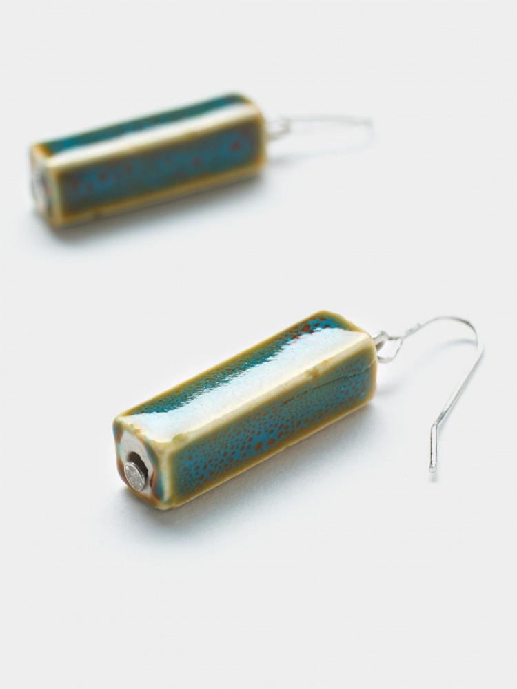 Oblong Ceramic Drop Earring