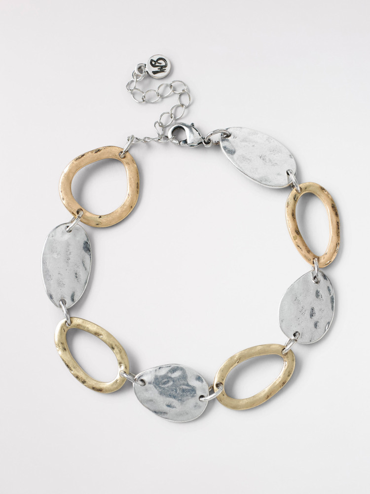 Mixed Metal Circle Bracelet