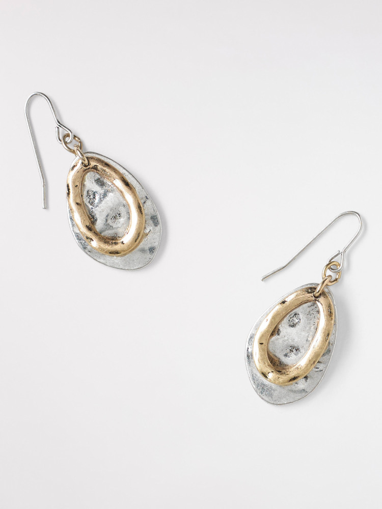 Mixed Oval Drop Earring