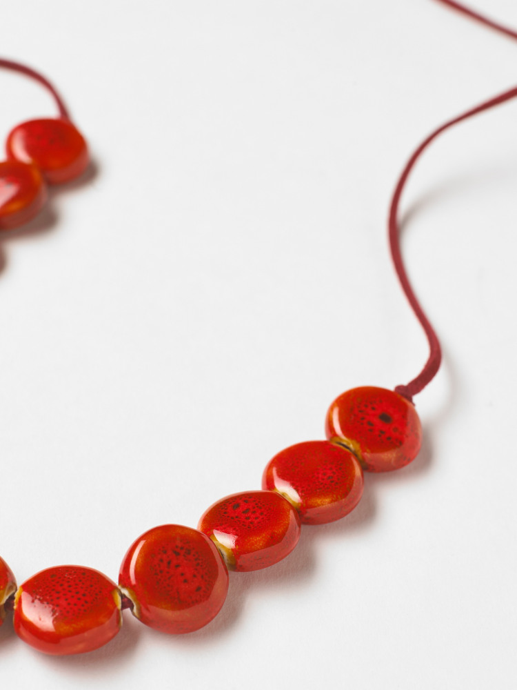 Cord & Ceramic Necklace