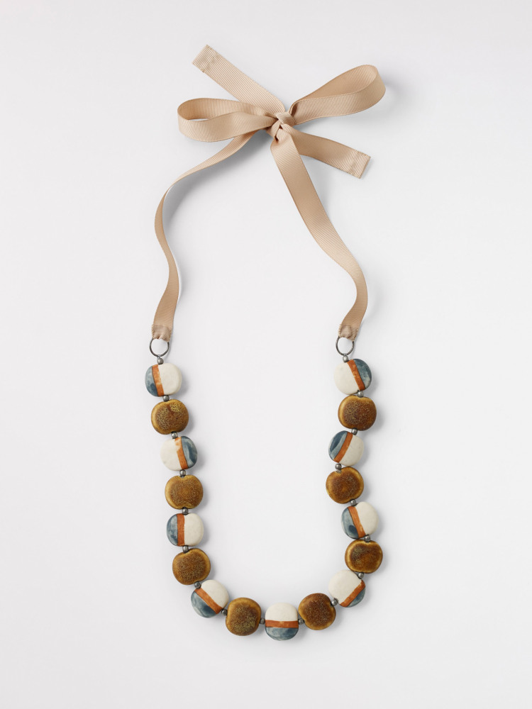 Ceramic Pebble Necklace