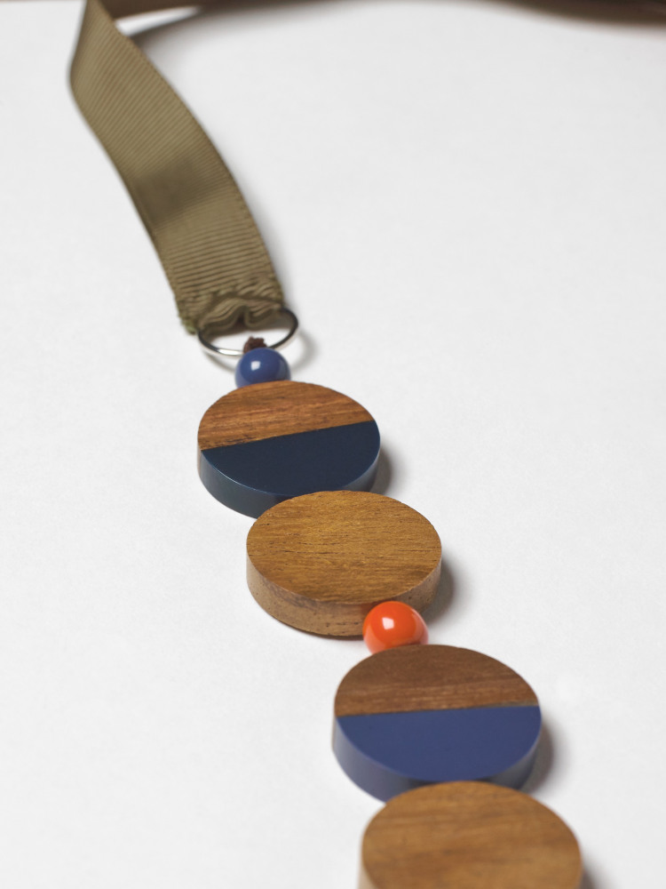 Multi Wood & Resin Necklace