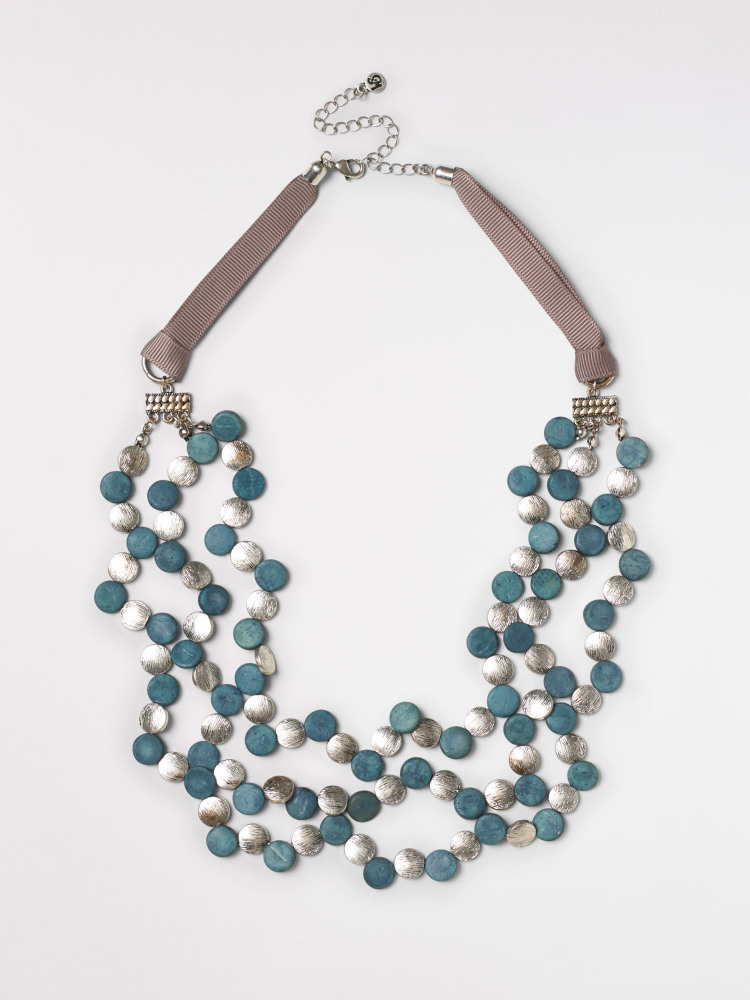 Metal &  Mono Bead Necklace