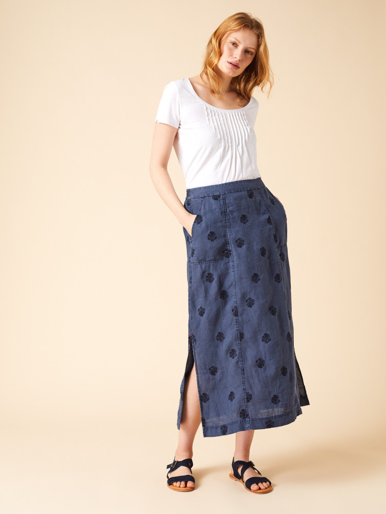 Roller Linen Maxi Skirt by White Stuff