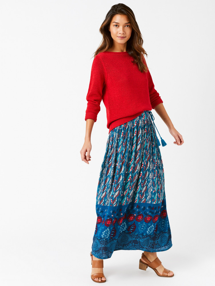 Ines Crinkle Woven Maxi Skirt