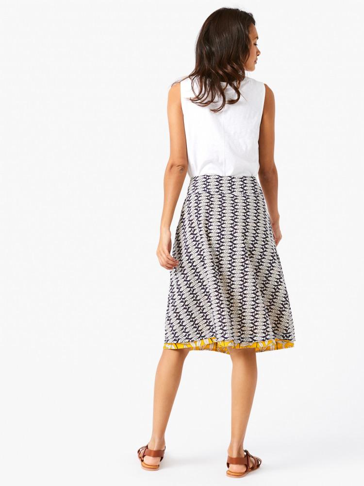 d623d4b1a7 Namibia Reversible Skirt (African Yellow Print) | White Stuff