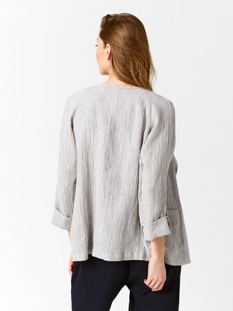 Crinkle Linen Jacket