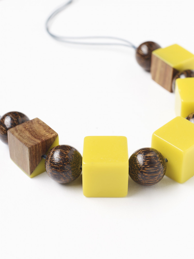 Cassie Cube Cord Necklace