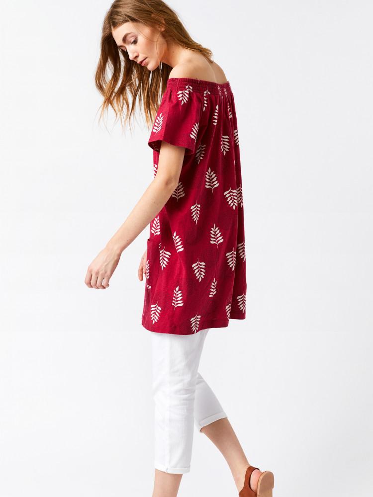 Zanzi Bardot Jersey Tunic