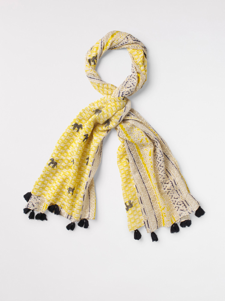 Wondering Zebra Border Scarf