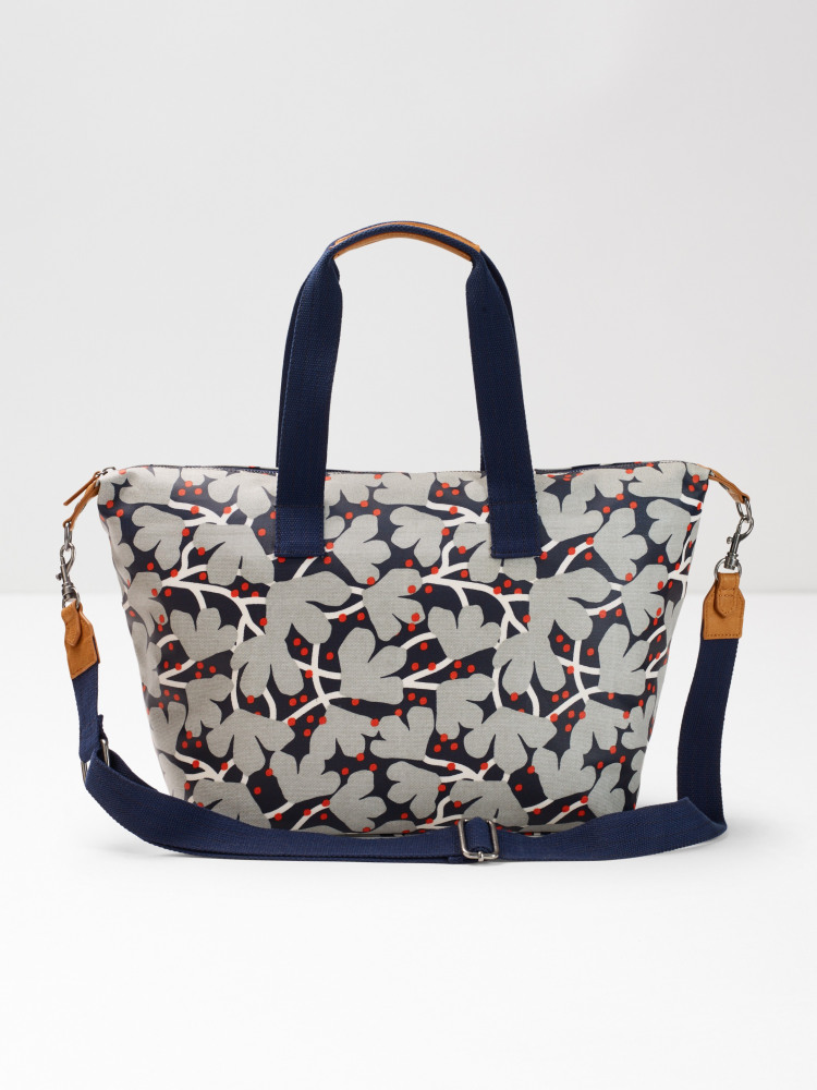 Floral Coated Canvas Holdall