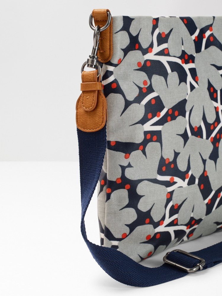 Floral Coated Canvas Crossbody