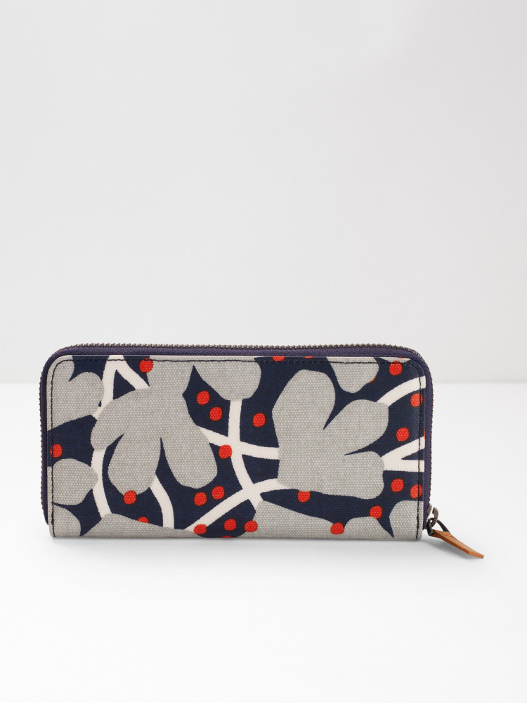 Floral Coated Canvas Purse