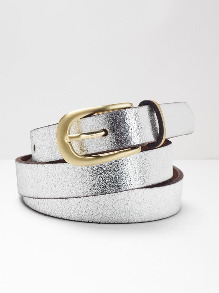 Skinny Metallic Pop Colour Belt