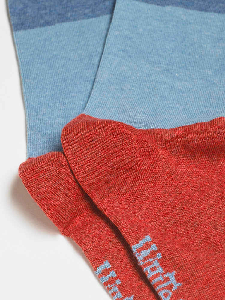 Colour Block 2 Pack Sock