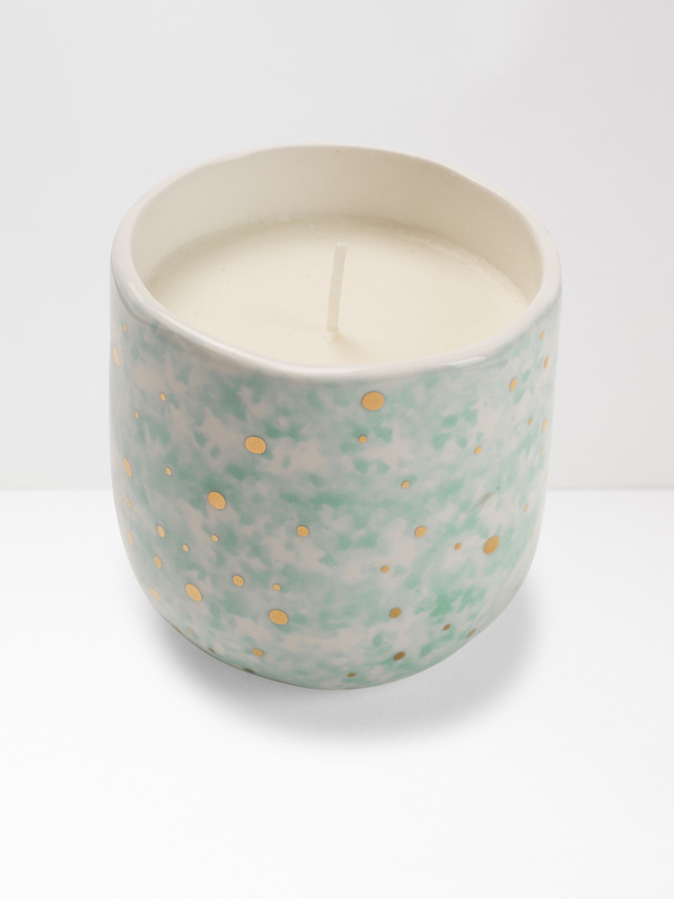 Dappled Gold Spot Candle
