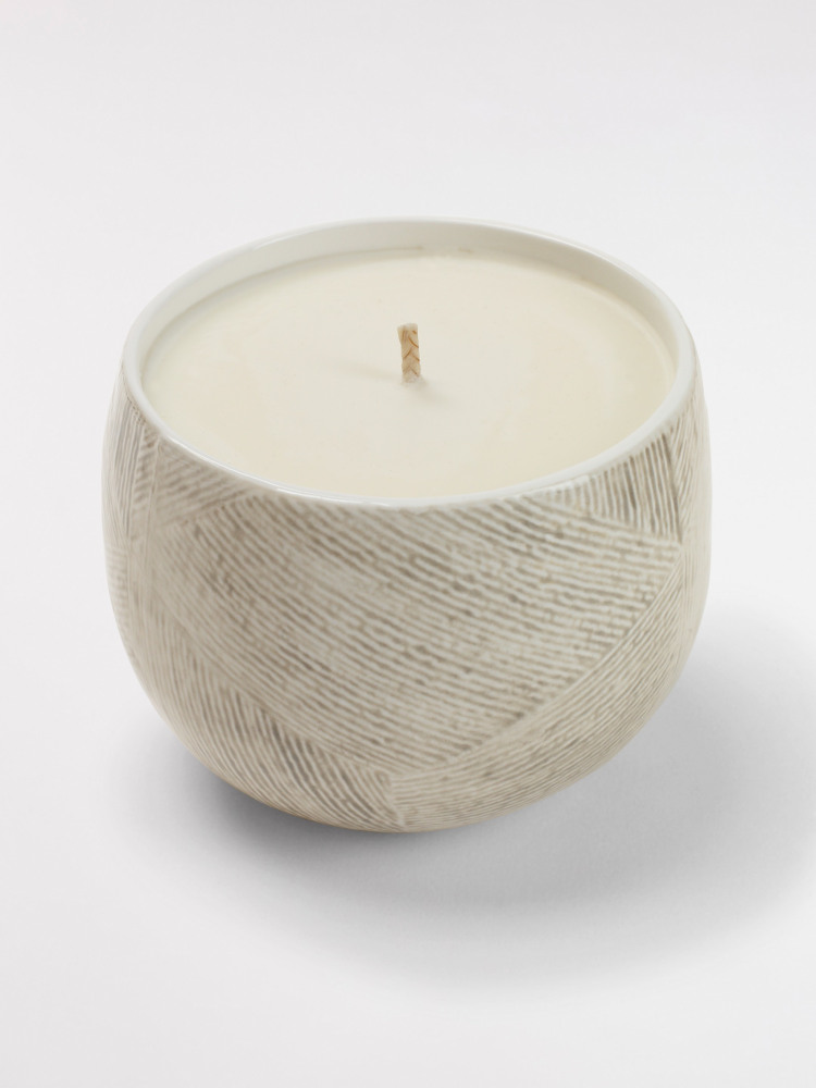 Etched Ceramic Candle