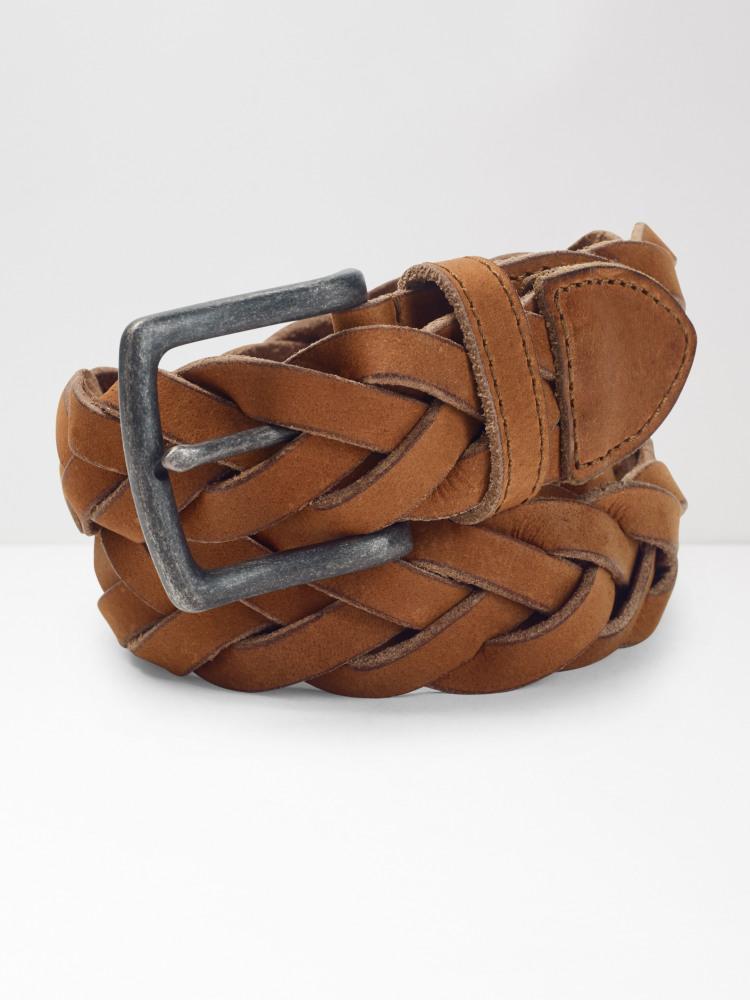 Plait Leather Belt