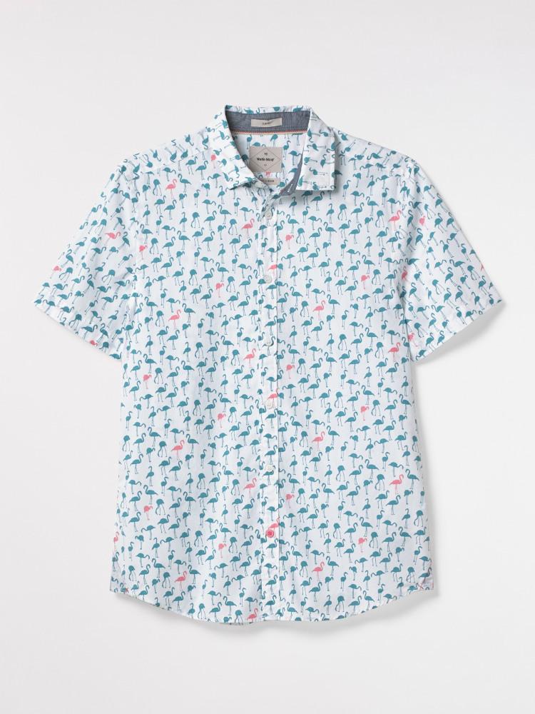 Flamingo Print Shirt