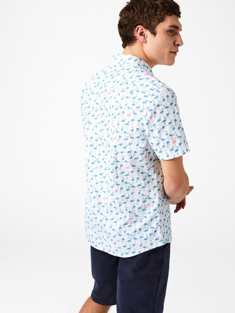 Flamingo Print Shirt