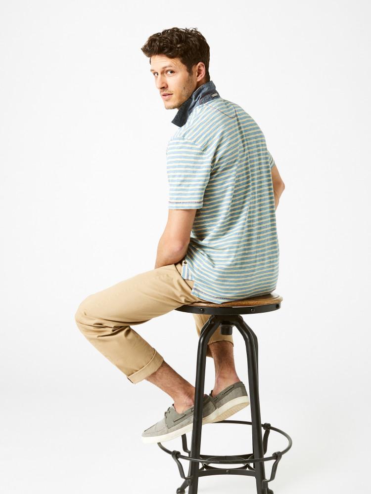 Calder Stripe Polo