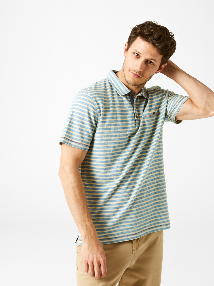 Calder Stripe Polo