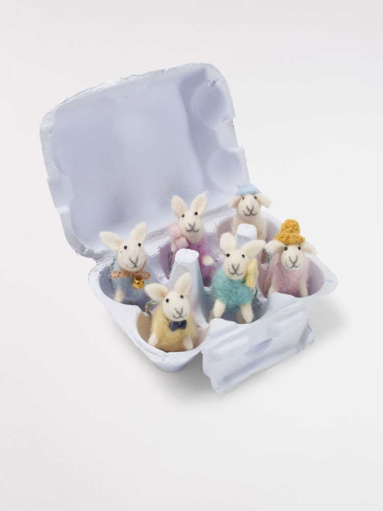 6 x Easter Sheep Egg Box
